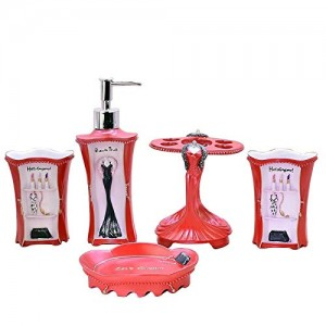 Resin 5 Piece Bathroom Accessory Set