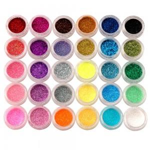 Nail Art Glitter Powder Dust 30 Colors
