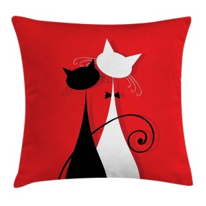 Red and Black Throw Pillow Cushion Cover