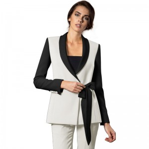 Ribbon Double Breasted Pant Suit For Women
