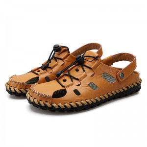 Spring/Summer Men's Casual Leather Beach Sandals