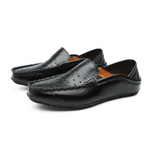 Men's Casual Gommino Driving Leather Moccasin Shoes