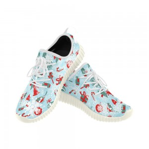Custom Sports Breathable Woven Running Shoes For Women