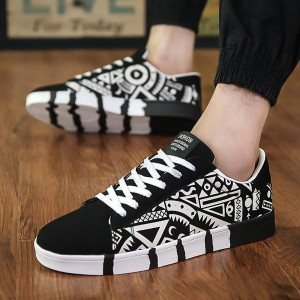 Custom Fashion Casual Hand Painted Canvas Shoes For Men